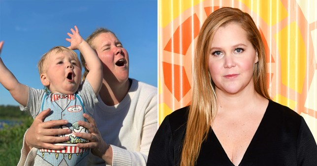 Amy Schumer pictured with son Gene