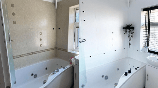 the bathtub before and after
