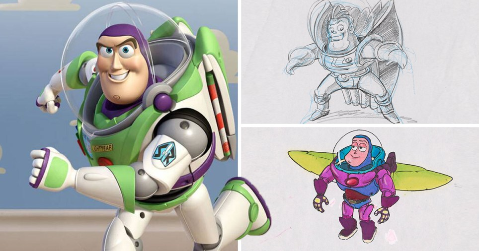 Buzz Lightyear sketches