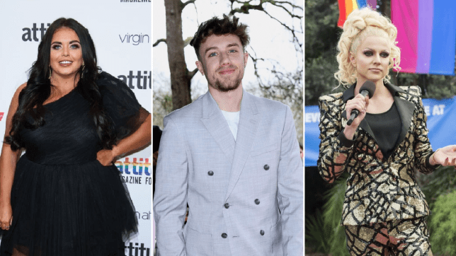 Courtney Act Scarlett Moffatt and Roman Kemp