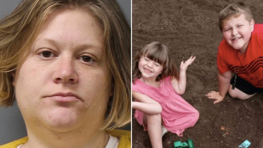Mother demands jurors aren't told she 'had sex with pit bull before hanging her kids'