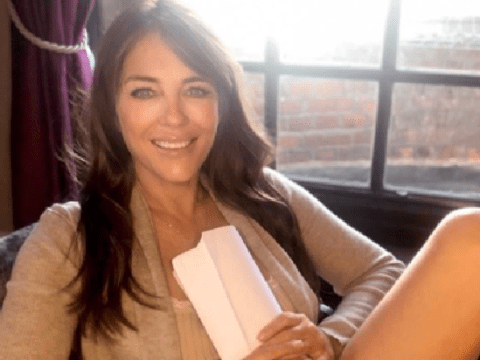 Elizabeth Hurley seriously excited to get back to work and film with John Cleese