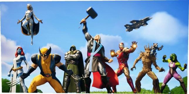 Fortnite Season 4 Marvel characters