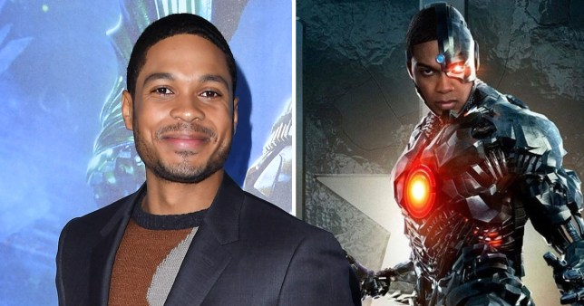 Ray Fisher on red carpet and as Cyborg