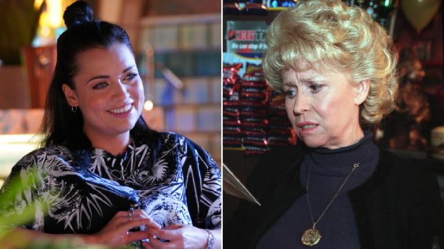Shona McGarty and Peggy Mitchell in EastEnders