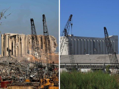 Huge silos hit by explosion 'held almost all of Lebanon's grain supply'