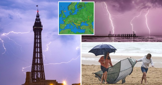 Thunderstorms in various locations in the UK