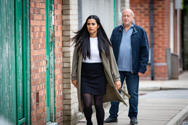 Alya and Geoff Coronation Street
