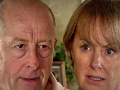 Coronation Street spoilers: Evil Geoff Metcalfe terrorises Sally with a spade in huge showdown