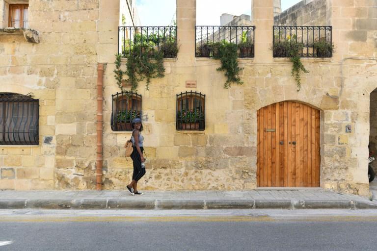 dominique hines walking in gozo, near malta