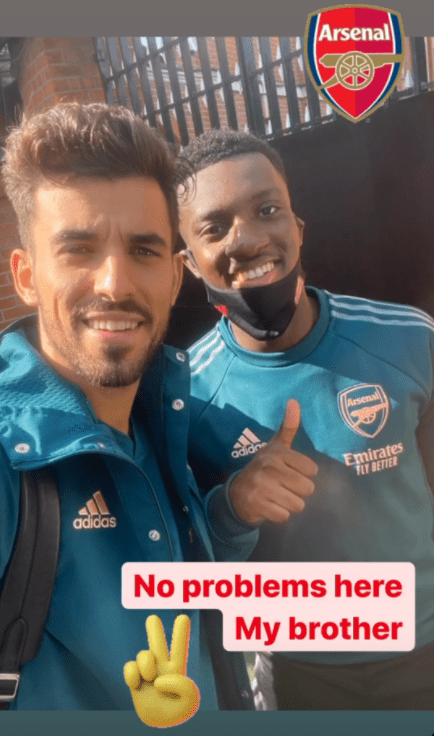 Dani Ceballos speaks out after clash with Arsenal teammate Eddie Nketiah during warm up