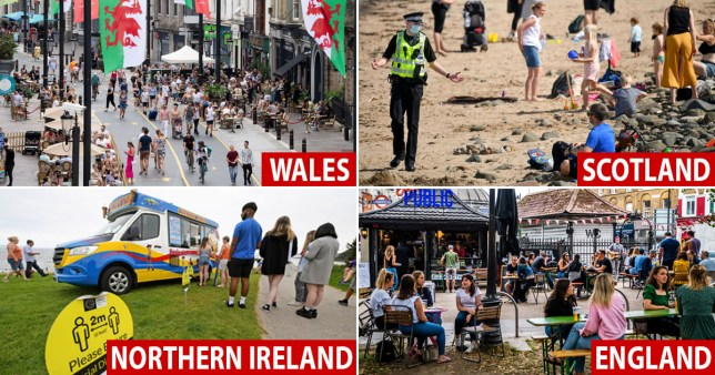 How is the 'rule of six' different in England, Scotland, Wales and Northern Ireland?
