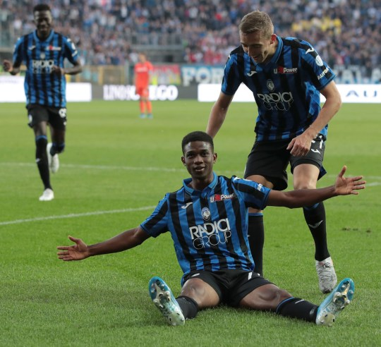 Amad Traore scored on his debut for Atalanta last season