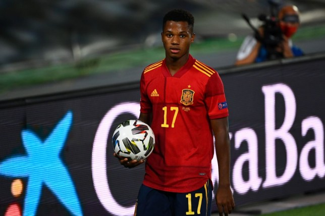 Fati scored on his first ever start for Spain
