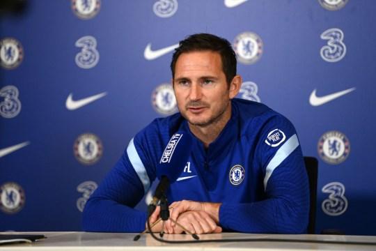 Frank Lampard speaks to the media