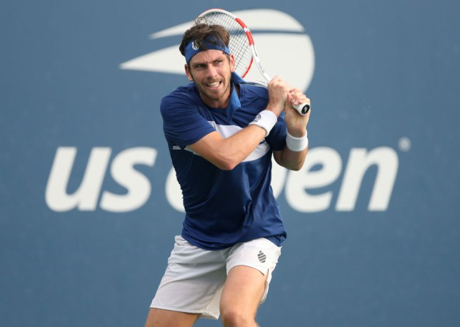 Cameron Norrie of Great Britain returns a volley during his Men's Singles second round match against Federico Coria of Argentina on Day Three of the 2020 US Open at the USTA Billie Jean King National Tennis Center on September 2, 2020 in the Queens borough of New York City.