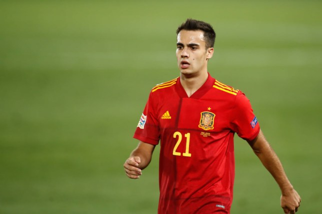 Sergio Reguilon in action for Spain