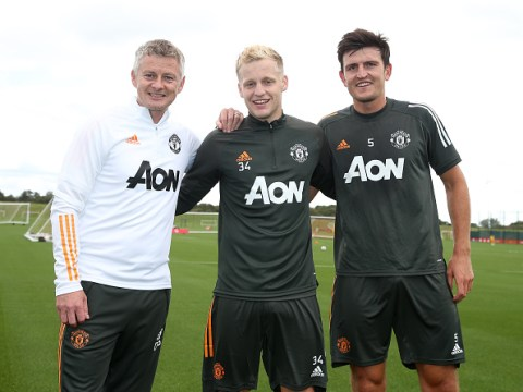 Ole Gunnar Solskjaer rates Donny van de Beek's impact in Manchester United training