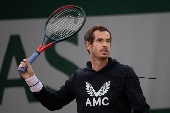 Andy Murray of Great Britain during practice at the 2020 French Open Tennis Tournament at Roland Garros on September 25th 2020 in Paris, France.