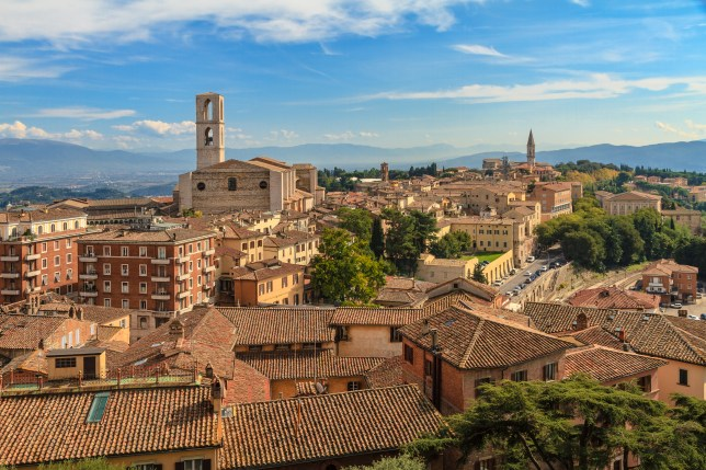 The City of Perugia on a sunny day