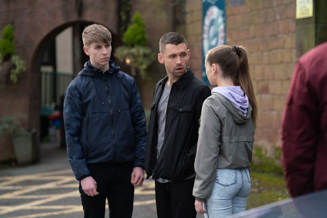 Juliet, Sid and Victor in Hollyoaks