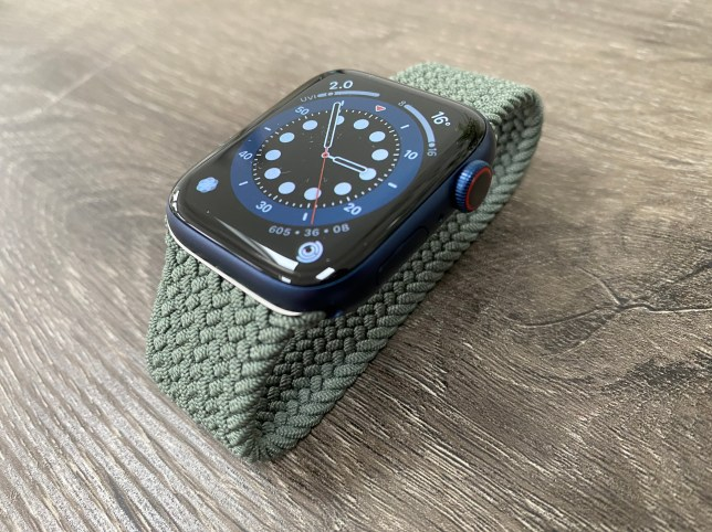 The Apple Watch Series 6 looks identical on the outside - apart from the new blue colour (Metro.co.uk)