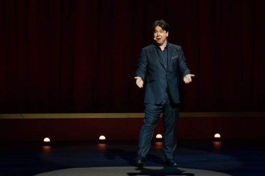 Michael McIntyre performing in his new Netflix special