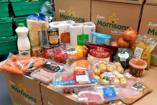 Morrisons food parcel