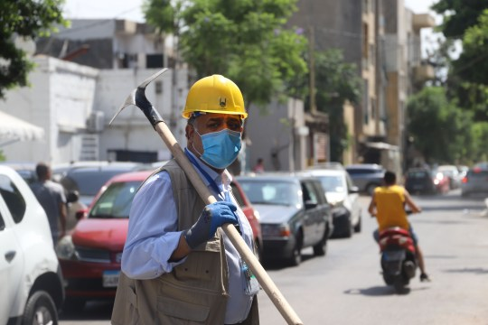 Nidal Ali aide aux secours à Beyrouth