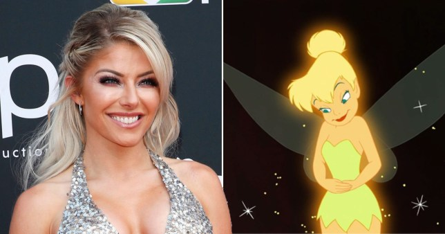 WWE superstar Alexa Bliss and Tinker Bell
