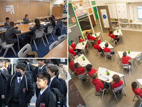 Inside new socially distanced classrooms as millions of kids return to school today