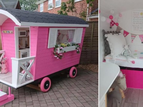 Granddad makes incredible mini caravan from scratch – and it even has double glazing