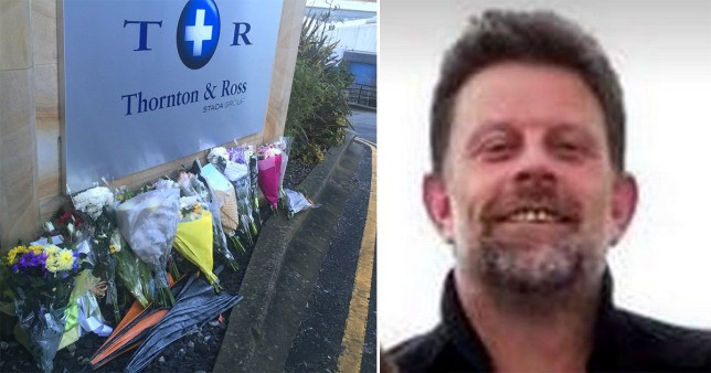 Dad Robert Wilson was killed outside a pharmaceutical factory earlier this year.
