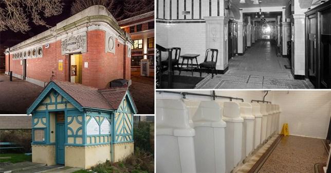 Old public toilets in Britain