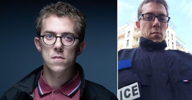 Le journaliste infiltré Valentin Gendrot, qui s'est infiltré dans un poste de police du nord de Paris et a documenté une culture de racisme et de violence pour son nouveau livre, Flic (flic).