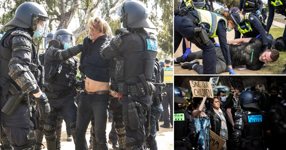 Hundreds protest the stage 4 lockdown rules in Melbourne as Covid-19 cases in Australia rise