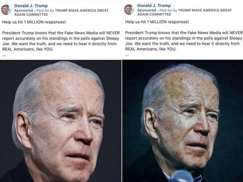 Trump's campaign runs doctored Facebook ads that make Biden look older