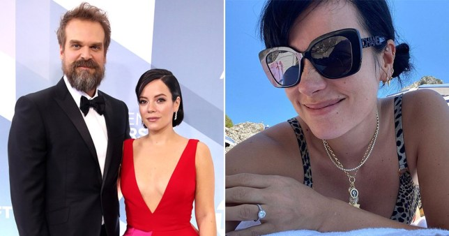 Lily Allen and David Harbour marriage license
