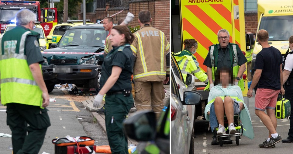 Children and parents injured after car mounts pavement outside primary school