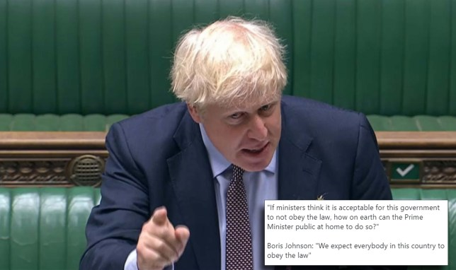 Boris Johnson says he 'expects everyone to obey the law' as the Government prepares to break international law.