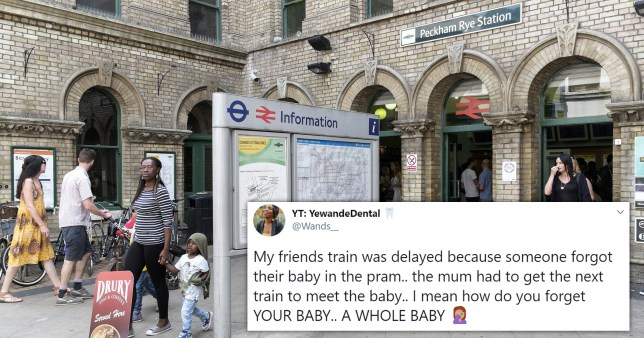 It happened at Peckham Rye Station in London