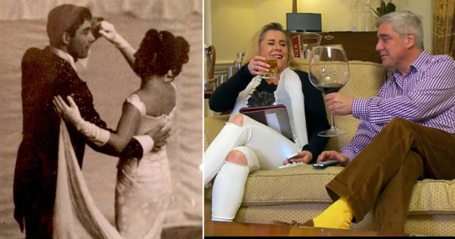 Gogglebox stars Steph and Dom celebrate wedding anniversary with epic throwback snaps