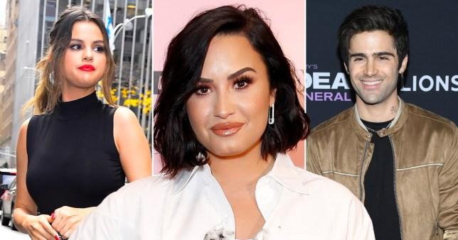 Demi Lovato, Selena Gomez and Max Ehrich