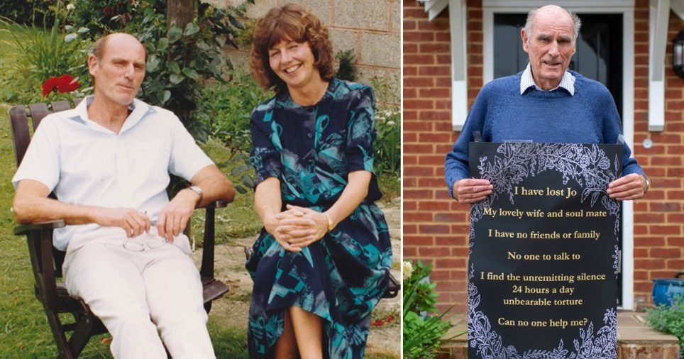 Tony Williams, from Hampshire, said the 'unremitting silence 24 hours a day' is an 'unbearable torture' since his wife Jo died.