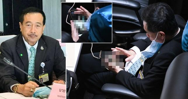 Un député thaïlandais regarde du porno sur son téléphone au parlement