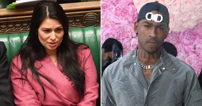 Skepta and Priti Patel