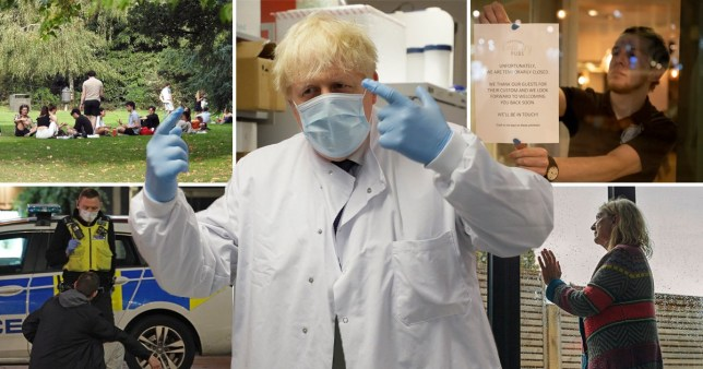 Boris Johnson is considering six months of 'on-off' measures to combat coronavirus.
