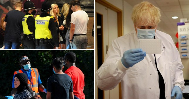 Boris Johnson is considering his next move after the 'rule of six' didn't bring down infection rates (Pictures: Getty/North news)
