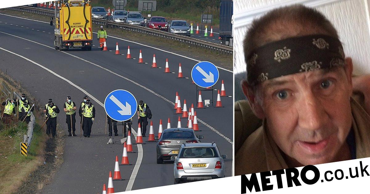 Delays on busy motorway as police search for missing man, 58 - metro