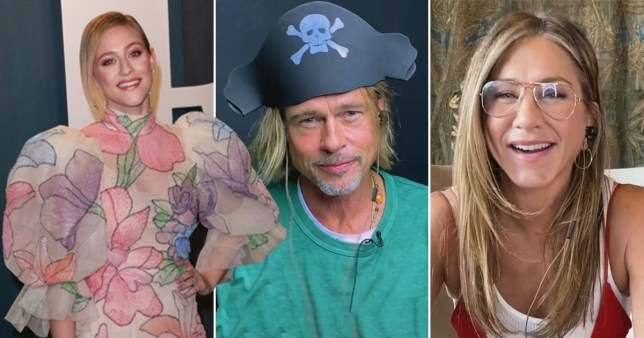 Lili Reinhart, Jennifer Aniston, Brad Pitt